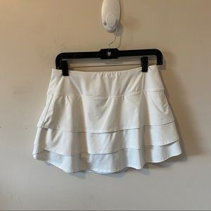 Athleta White Swagger Tiered Skort- Size S
